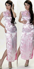 Sleeveless Water-drop Opening Long-length Cheongsam (CM)