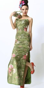 Collarless Bare Shoulders Cheongsam (CM)