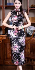 Sleeveless Long-length Floral Cheongsam (RM)