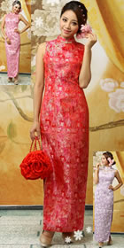 Sleeveless Long-length Cheongsam (RM)