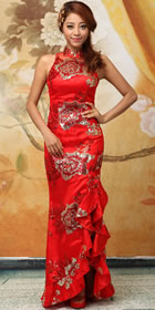 Cut-in Shoulders Long-length Cheongsam (RM)