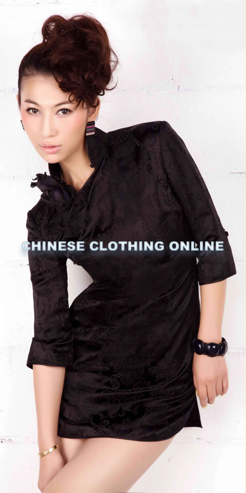 Elbow-sleeve Short-length Cheongsam (CM)