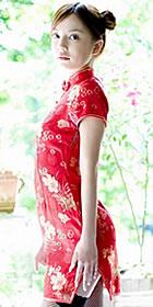 Cup-sleeve Short-length Cheongsam (CM)