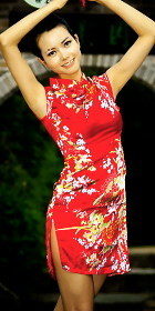 Cup-sleeve Short-length Cheongsam (CM)
