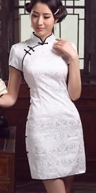 碗袖短身旗袍(定做)