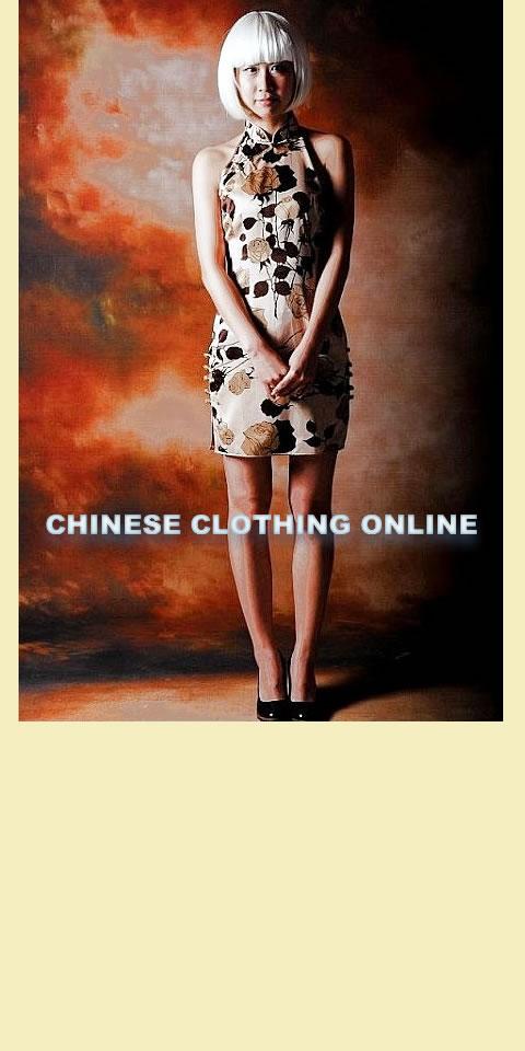 Cut-in Shoulders Short-length Cheongsam (CM)