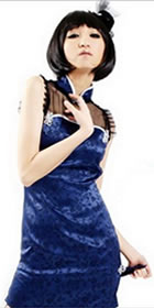 Sleeveless Short Cheongsam (CM)