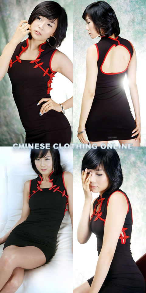 Sleeveless Bareback Short-length Cheongsam (CM)
