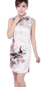 Sleeveless Short-length Cheongsam (CM)