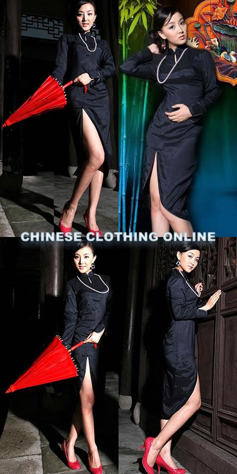 Long-sleeve Mid-length Cheongsam (CM)