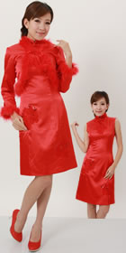 Long-sleeve Mid-length Cheongsam Suit (RM)
