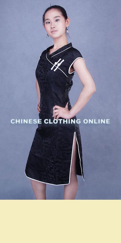 Cup-sleeve Mid-length Cheongsam (CM)