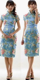 Cup-sleeve Mid-length Cheongsam (CM)