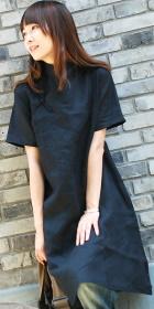Ethnic Short-Sleeve Loose Cheongsam (CM)