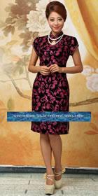 Cup-sleeve Mid-length Cheongsam (RM)