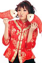 3/4-sleeve Mandarin Jacket (CM)