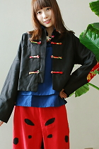 Ethnic Elbow Patch Blouse/Jacket (CM)