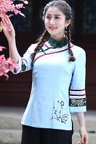 特色7分袖民族風上衣(成衣)