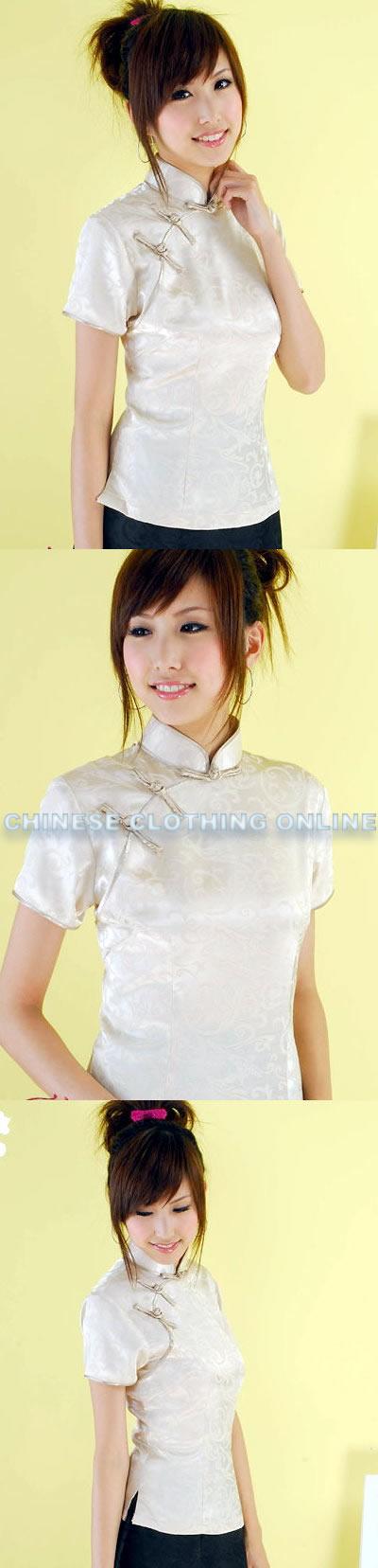 Short-sleeve Mandarin Blouse (CM)