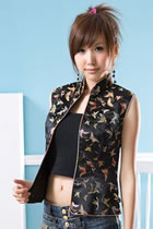 Sleeveless Mandarin Blouse (CM)