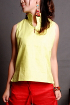 Ethnic Sleeveless Blouse/Vest
