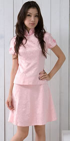 Short-sleeve Short-length Skirt Suit (CM)