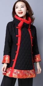 民族風情雙排盤扣刺繡棉大衣 (成衣)