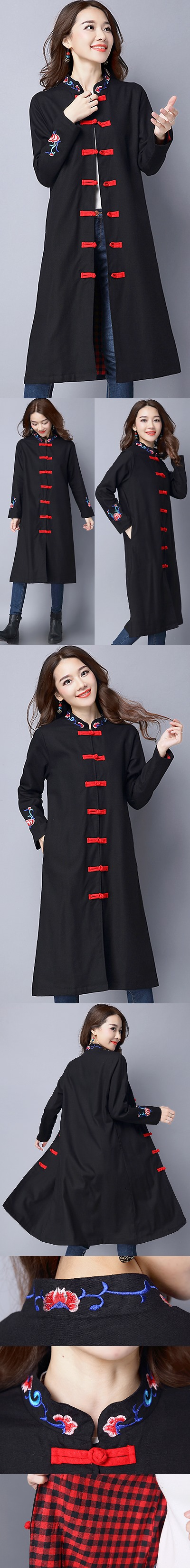 Trendy Ethnic Cotton Linen Coat (RM)