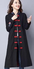 民族風情棉麻外套 (成衣)