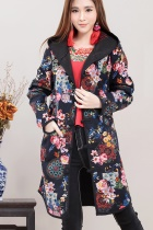 Trendy Ethnic Linen Cotton Coat w/ Hood (RM)
