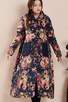 Trendy Ethnic Long Cotton Wadded Coat (RM)