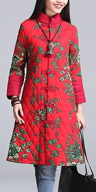 Trendy Ethnic Cotton Wadded Coat (RM)