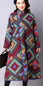 Trendy Mongolian Ethnic Faux Wool Coat (RM)