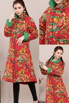 Trendy Ethnic Cotton Thick Wadded Coat (RM)