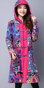 Trendy Ethnic Wadded Coat w/ Hood (RM)