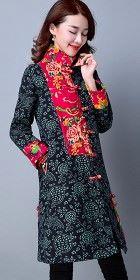 民族風情棉麻夾棉外套 (成衣)