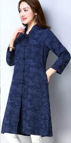 民族風情刺繡夾棉外套 (成衣)