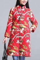 Trendy Ethnic Cotton Wadded Coat (RM)