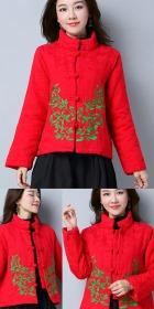 民族風情棉麻刺繡夾克 (成衣)
