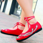 Chinese Ethnic Phoenix Embroidery Strap Shoes (RM)