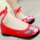 Chinese Ethnic Embroidery Strap Shoes (RM)