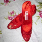 High Heel Floral Beading Shoes (Multicolor)