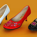 High Heel Pomegranate Flower Beading Shoes (Multicolor)