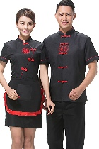 Mandarin Style Restaurant Uniform-Top (Black)