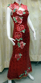 Sleeveless Long-length Bridal Cheongsam (RM)