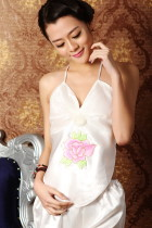 Silky Mudang Peony Embroidery Halter Top (RM)