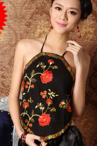 Floral Embroidery Halter Top (RM)