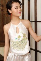 Peacock Embroidery Halter Top (RM)