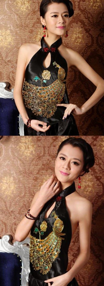 中式立領繡花肚兜