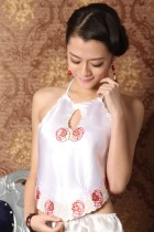 Fish Embroidery Halter Top (RM)